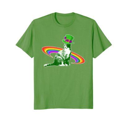 Funny Cat Saint Patrick's Day Men Women Gift T Shirt