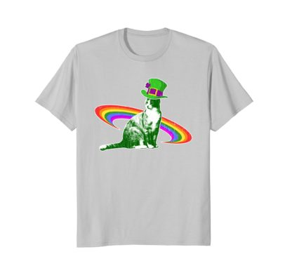Funny Cat Saint Patrick's Day Men Women Gift T Shirt