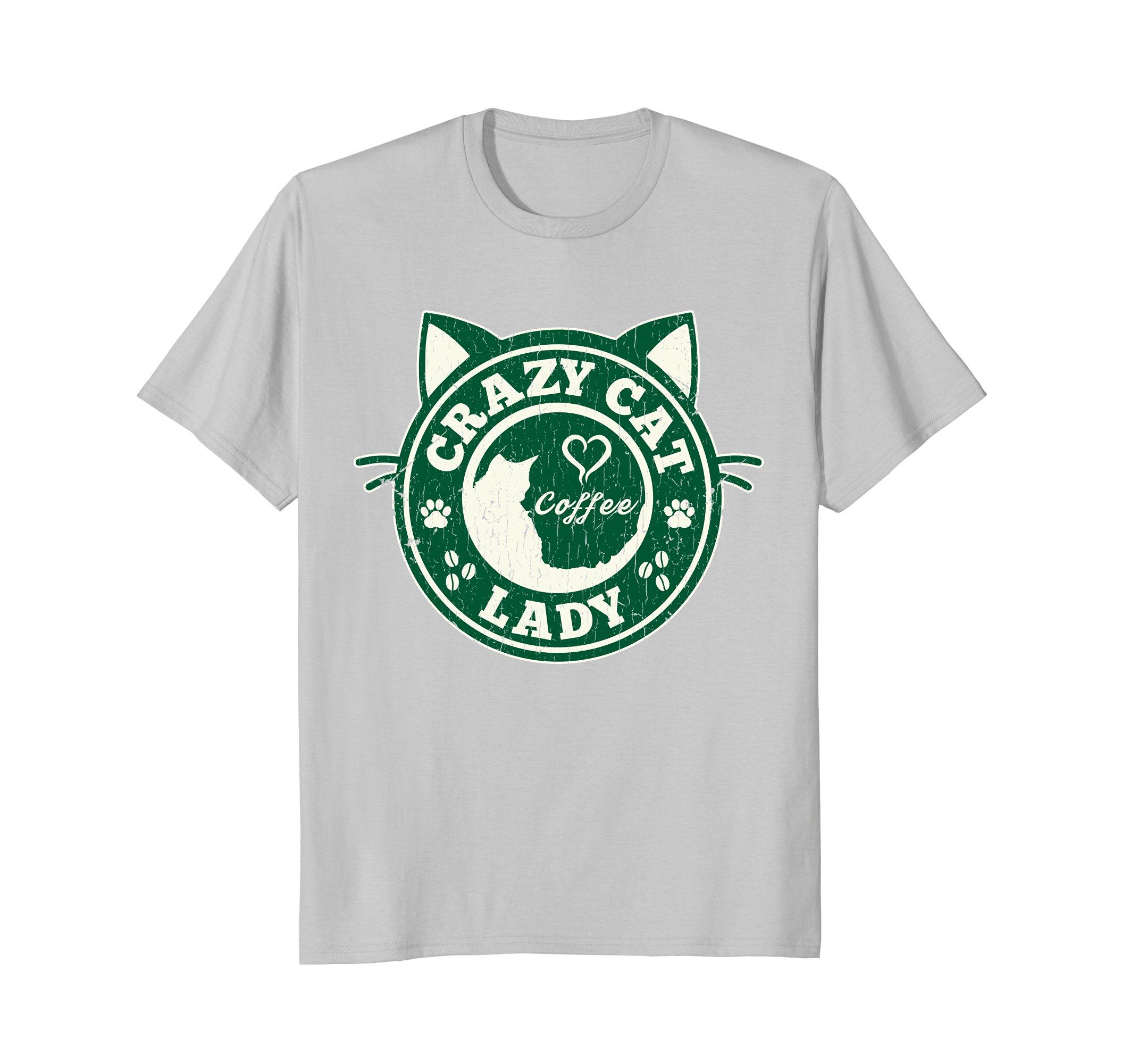 36ee9f6a Crazy Cat Lady & Coffee Lover | Funny Cat T Shirt – PetDazz.com ...