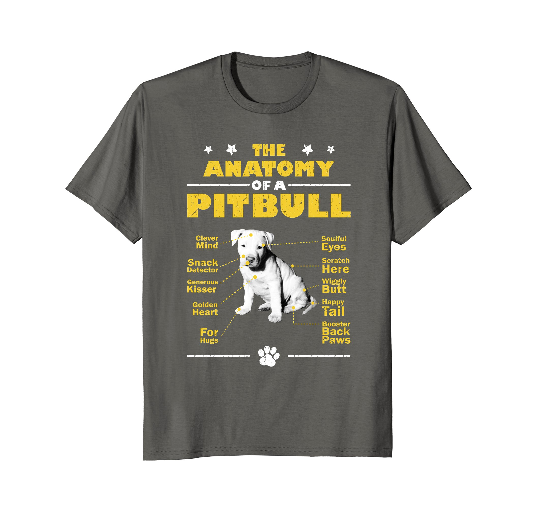Pit Bull Lovers Apparel | Anatomy Of A Pit Bull Gift T-Shirt ...