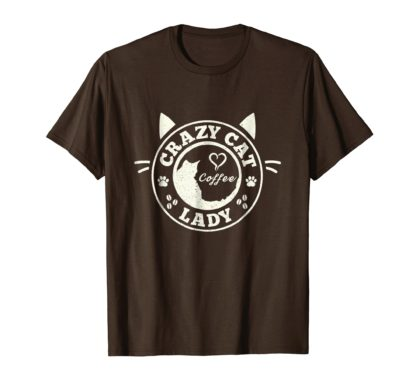 Cat Coffee Shirts | Crazy Cat Lady Coffee T-Shirt