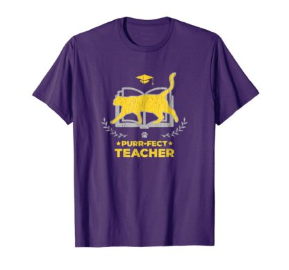 Cat Teacher Shirt | Purr-fect Teacher T-Shirt