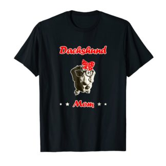 Dachshund Mom T-Shirt Gift For Women