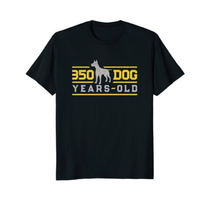 Funny 50th Birthday Gift T Shirt | 350 Dog Years Old
