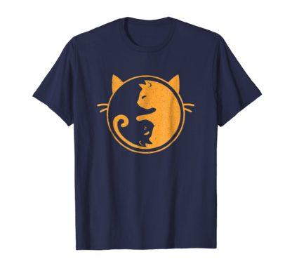 Yin Yang Balance Cat T-Shirts